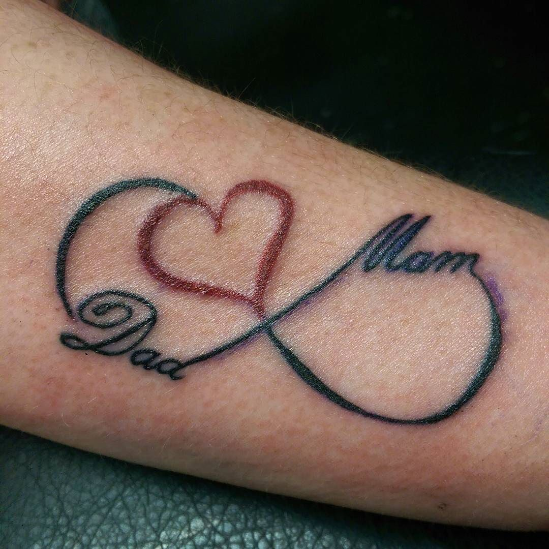 Mom and dad love infinity tattoo biocorpaavc Image collections