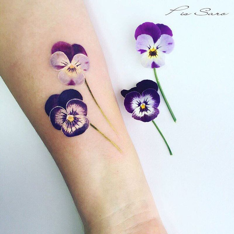 Purple Hibiscus Tattoo: Floral Tattoo Images & Designs
