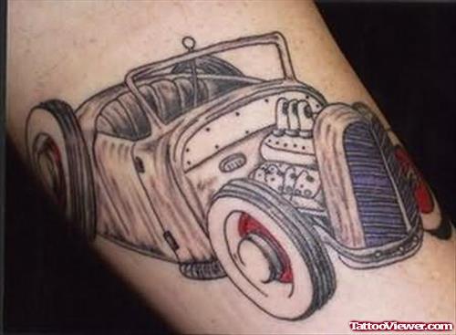 Simple Vintage Car Tattoo Design