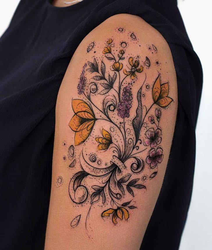Floral Tattoo Images & Designs
