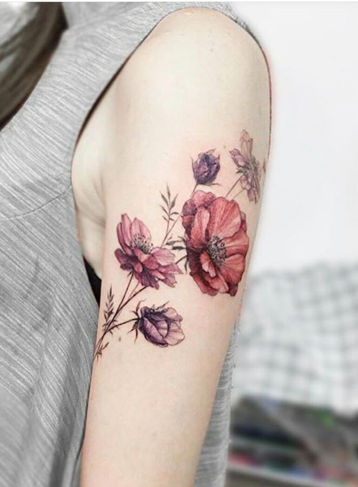 Floral tattoo images designs for Flower tattoo arm