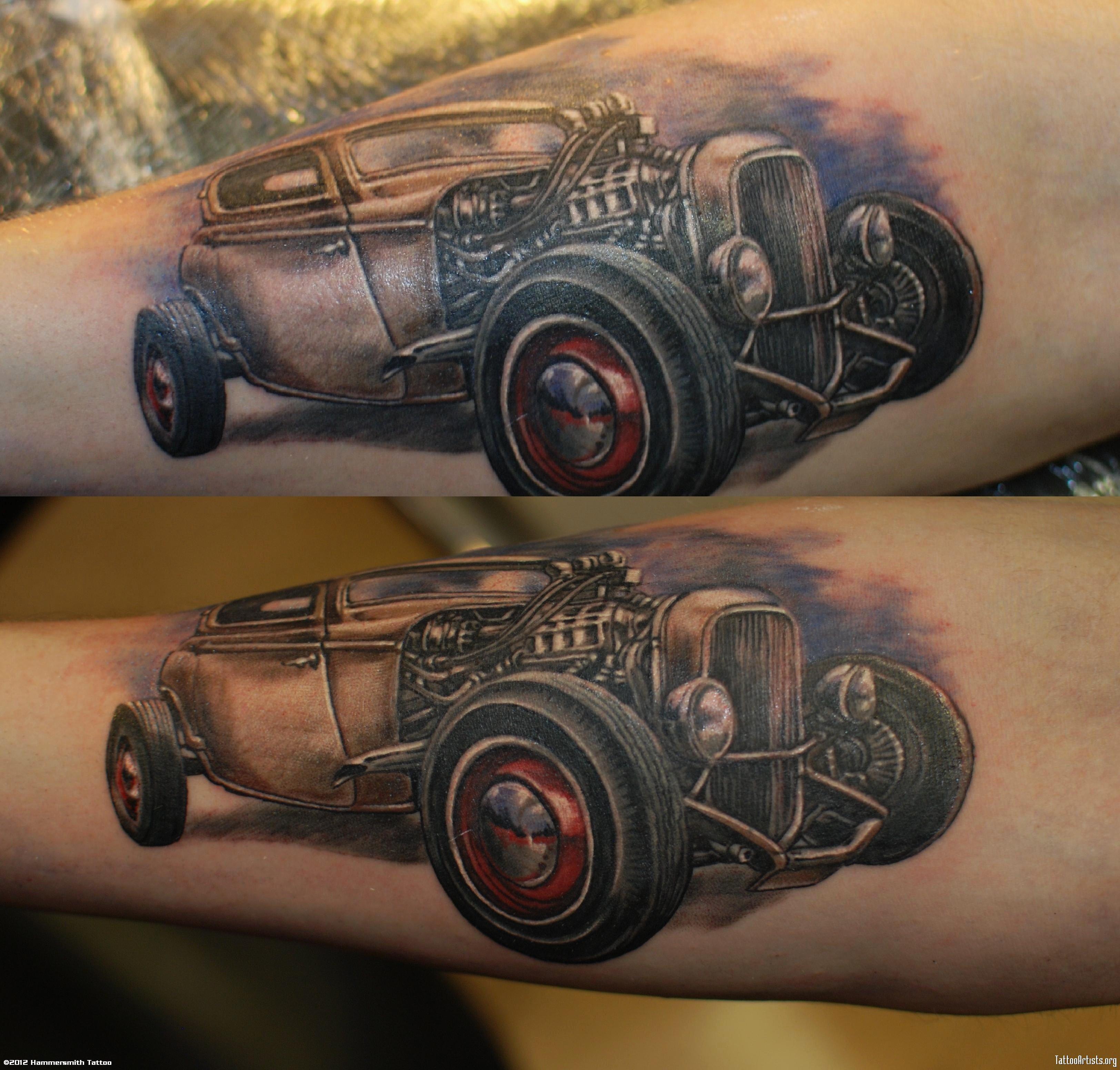 Car Tattoo Images Designs