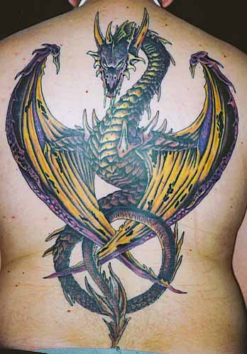 tatouage dragon fantasy - tatouage