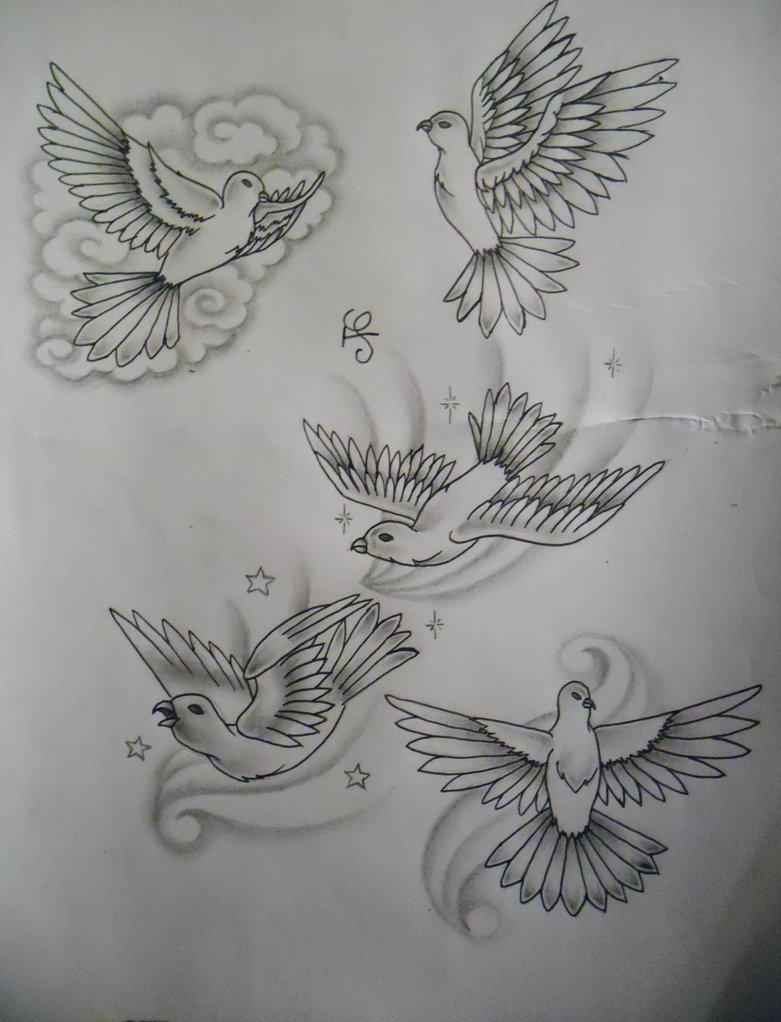 Beautiful Dove Tattoos