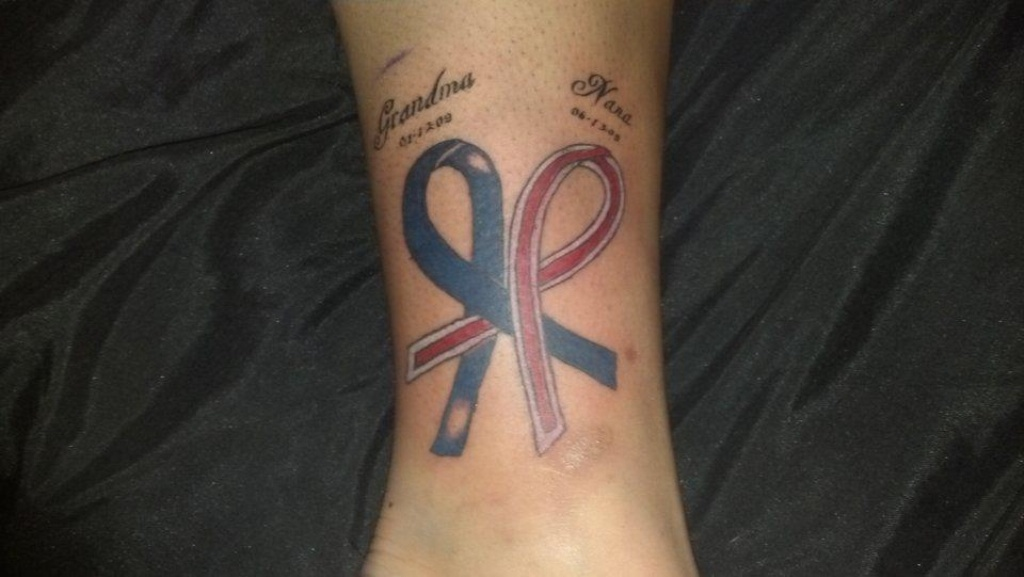 Grandma Colon Cancer Tattoo On Ankle