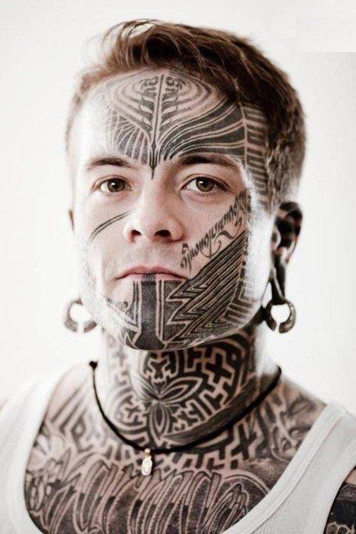 face tattoo 45