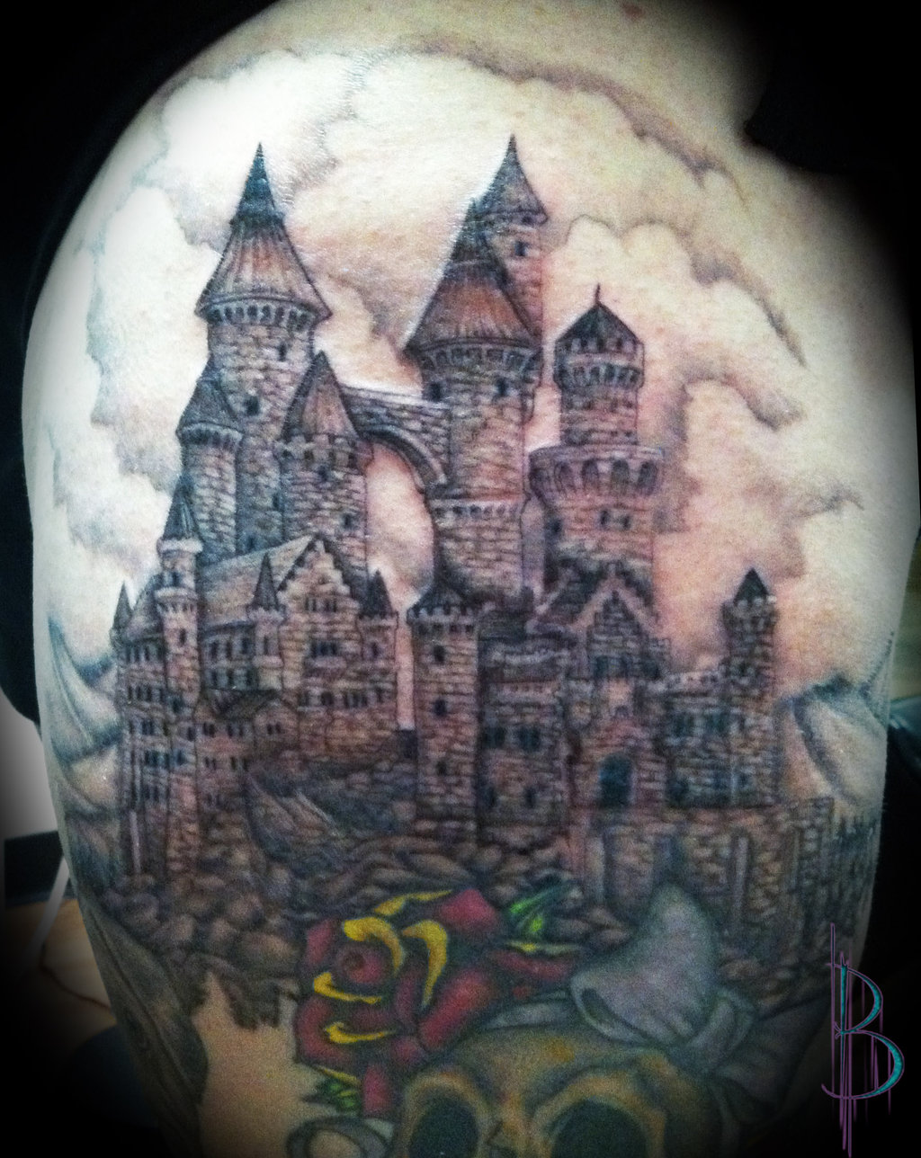 5797d82e5f434 Castle-Tattoo-Design.
