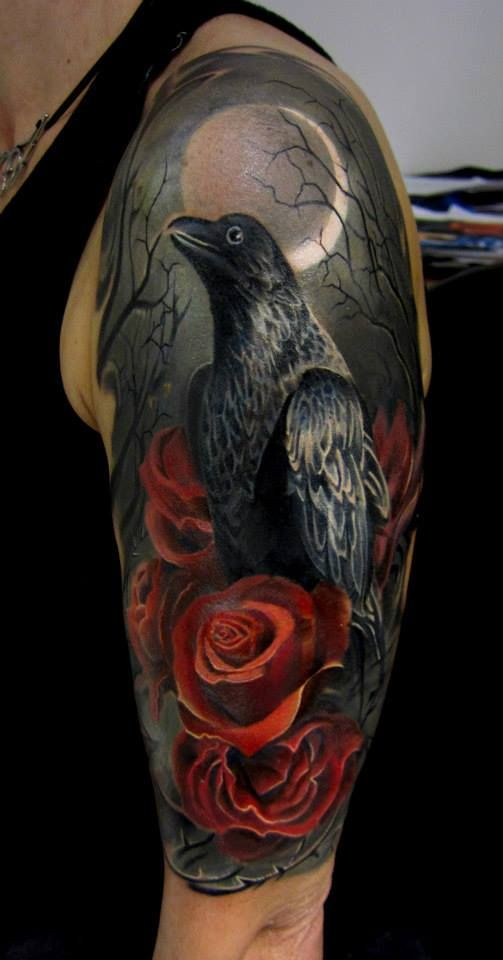 Crow tattoo 7