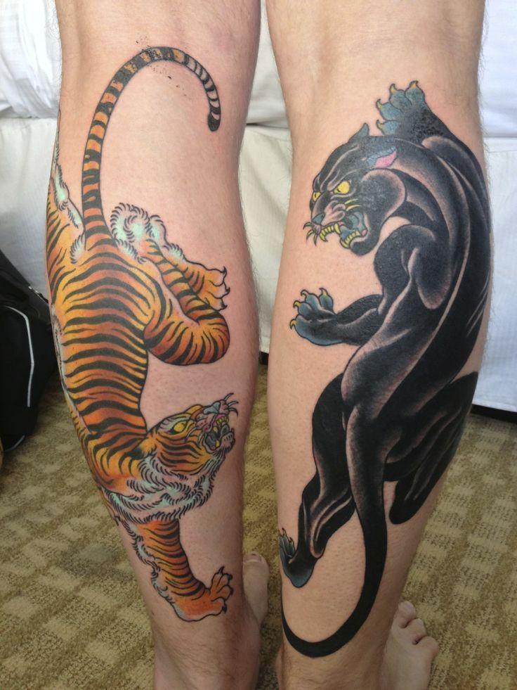 Tribal Tiger Panther Tattoo