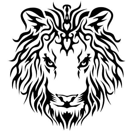 King Lion Tattoo Design Idea